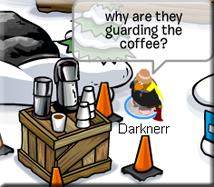 coffee guarding
