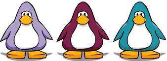 3 colors penguin
